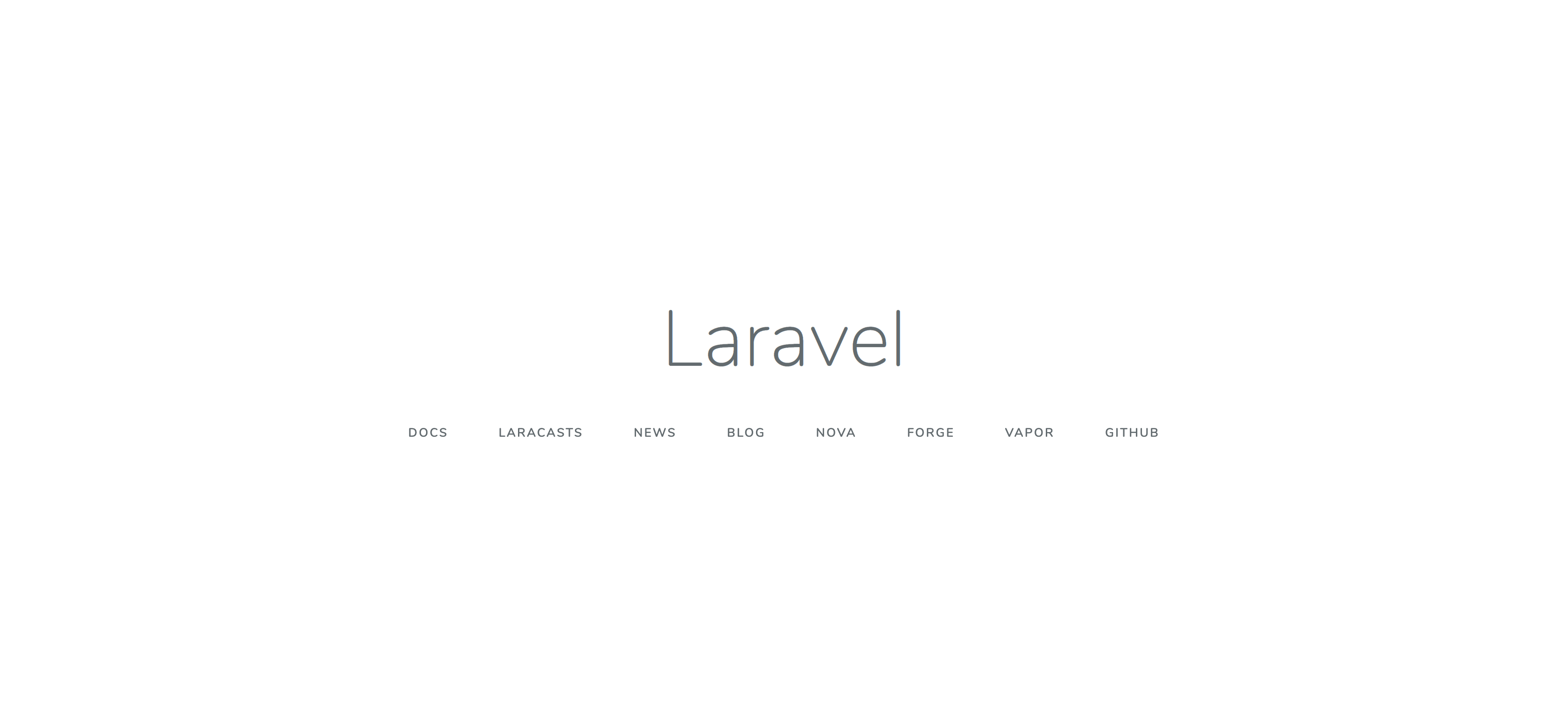 Laravelのwelcomeページ