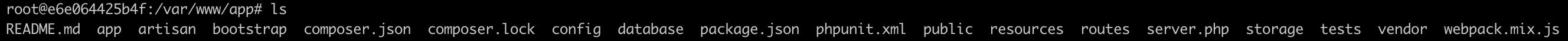 appの下にLaravelのファイル群を生成できた