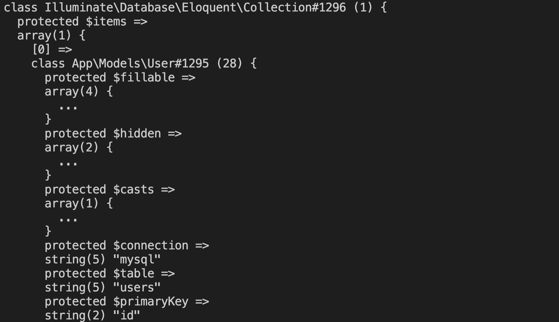 【Laravel】Eloquentでgetが返すデータの形式